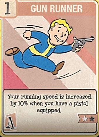 fallout 76 Perk Card Agility Gun Runner