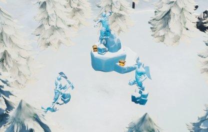 3 Ice Sculptures - Southwest of Polar Peaks close up