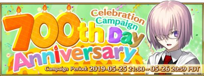 700th Day Celebration Campaign banner