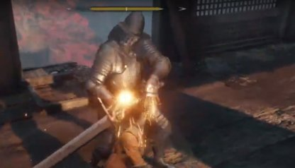 Defeat the Armored Warrior by Destroying his Posture