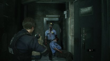 Resident Evil 2 Demo Safety Deposit Room Zombies