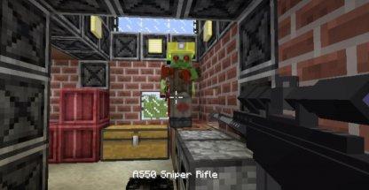 Shoot guns in Minecraft
