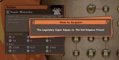 Some Super Attacks require story progression