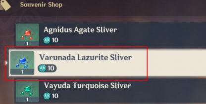 Varunada Lazurite Sliver Buy