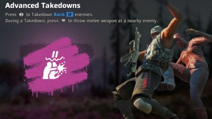 Recommended Perk: Advanced Takedowns