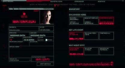 Cyberpunk 2077 Character Creation