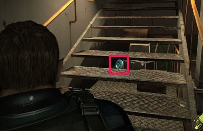 Emblem Location 3 - Behind Stairs