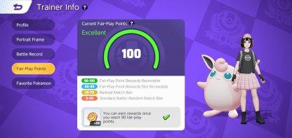 Pokemon Unite's Fair Play Points