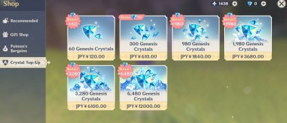 Buy Genesis Crystals From The Shop