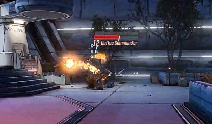 Coffee Commander Shoots Fire Balls