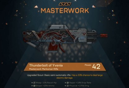 Crafting Mastercraft Weapons