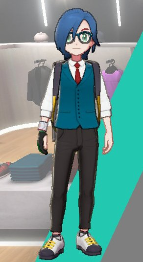 Vest And Tie Ensemble (Blue)