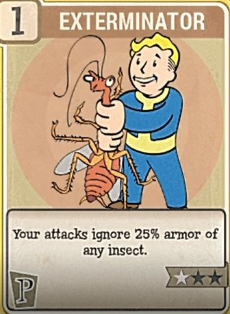 Fallout 76 Perk Cards Perception Exterminator