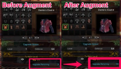 Augmenting Armor Allows You To Upgrade More