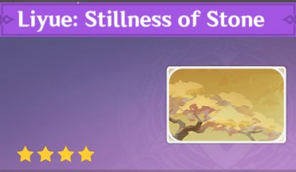 Complete To Get Liyue: Stillness Of Stone Namecard