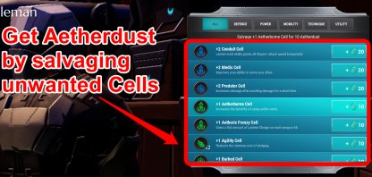 Get Aetherdust By Salvaging Cells