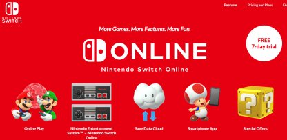 Online Features Require Nintendo Switch Online
