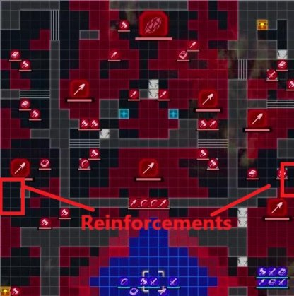 The Fight for Fhirdiad: Battle start & reinforcements map