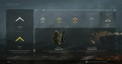 Unlock Base Items By Completing Enlisted Rank