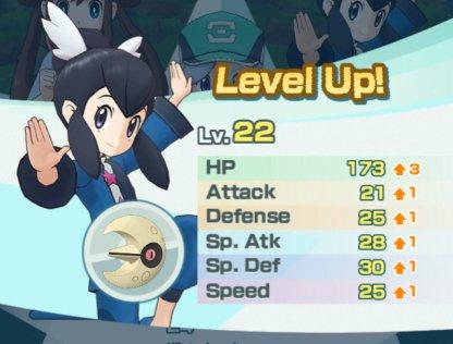 Pokemon Masters Level Up Stat Increase