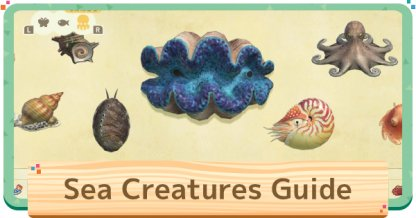 Sea Creatures List