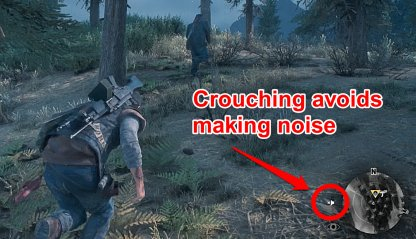 Crouch To Avoid Making Noise