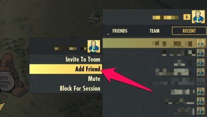 Fallout 76 How to Add Friends & Join Team
