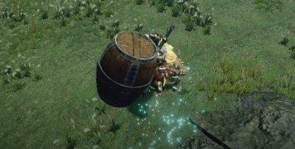 Barrel Bomb Mid-Air