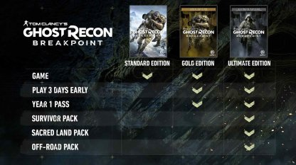 Ghost Recon Breakpoint - Release Information