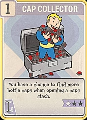 Fallout 76 Perk Card Luck Cap Collector