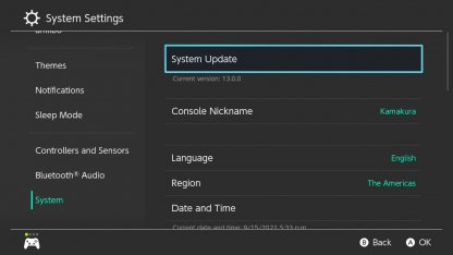 Update Your System Settings