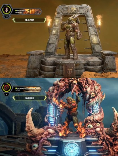 Doomguy Skin Comparison