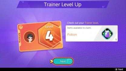 Trainer Level Up Battle Item Unlock