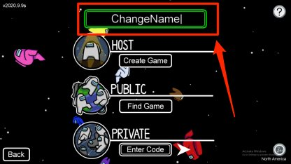 How to change name steps