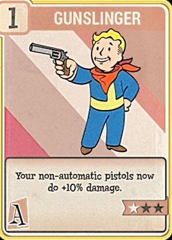 fallout 76 Perk Card Agility Gunslinger