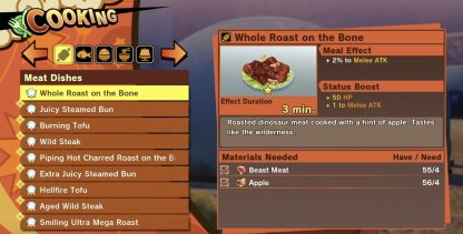 Use Cooking To Gain Buffs