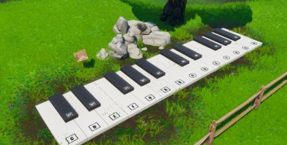 Oversized Piano Location Close Up