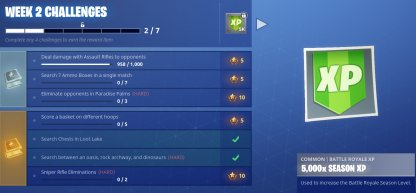 Weekly Challenges Give Lots of XP