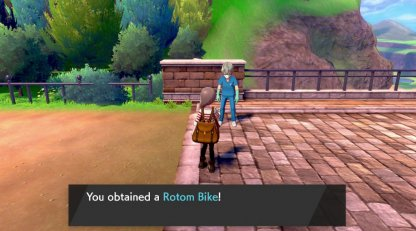 Receive Rotom Bike After Beating Team Yell