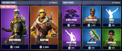 Purchase Skins From Items Shop