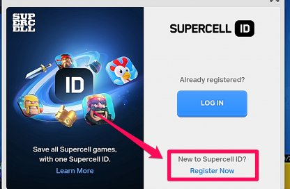 Register for a Supercell ID if You Don