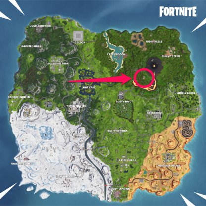 Fortnite Season 8 Visit All Pirate Camps Season 8 Week 5 Challenge Volcano