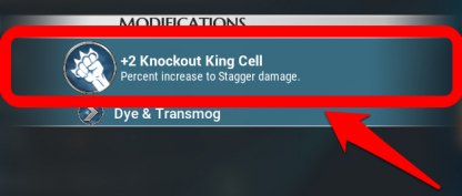 Equip Knockout King To Stagger Faster