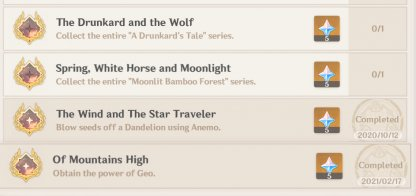Spring, White Horse and Moonlight - Achievement Overview & Rewards
