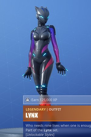 Fortnite | LYNX - Skin Review: Challenge, Leveling Guide