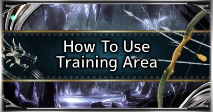 How To Use The Training Area