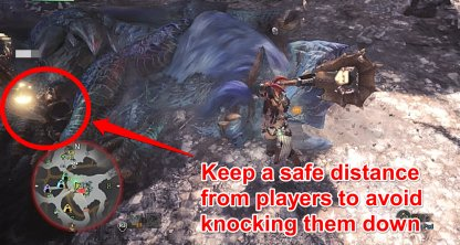 Avoid Knocking Down Teammates