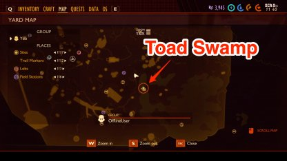 Toad Swamp Map