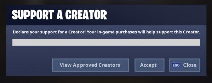 Share the Love Support a Creator creator code