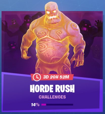 Complete Horde Rush Challenges When Playing